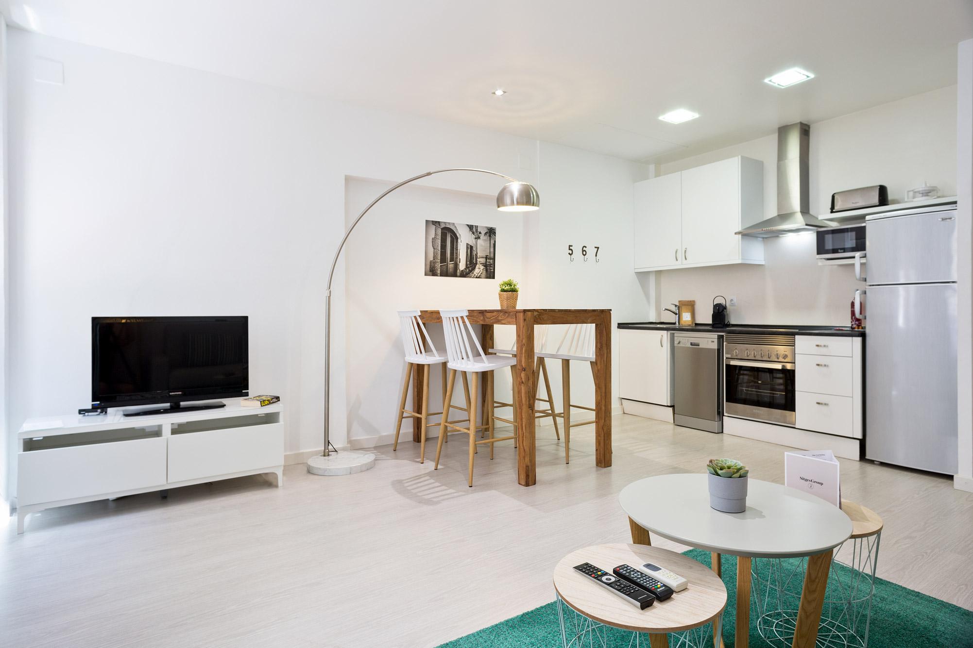 Apartment Sitges Blue & White 1b