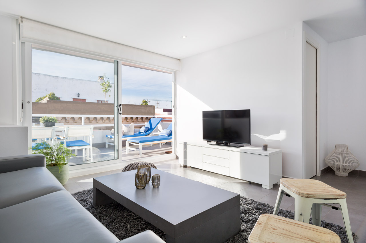 Apartament Sitges Blue & White Penthouse 2