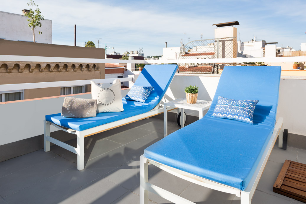 Appartement Sitges Blue & White Penthouse 2