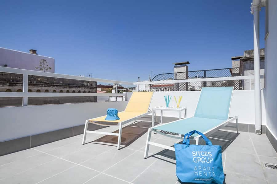 Apartment Sitges Blue & White Penthouse 2