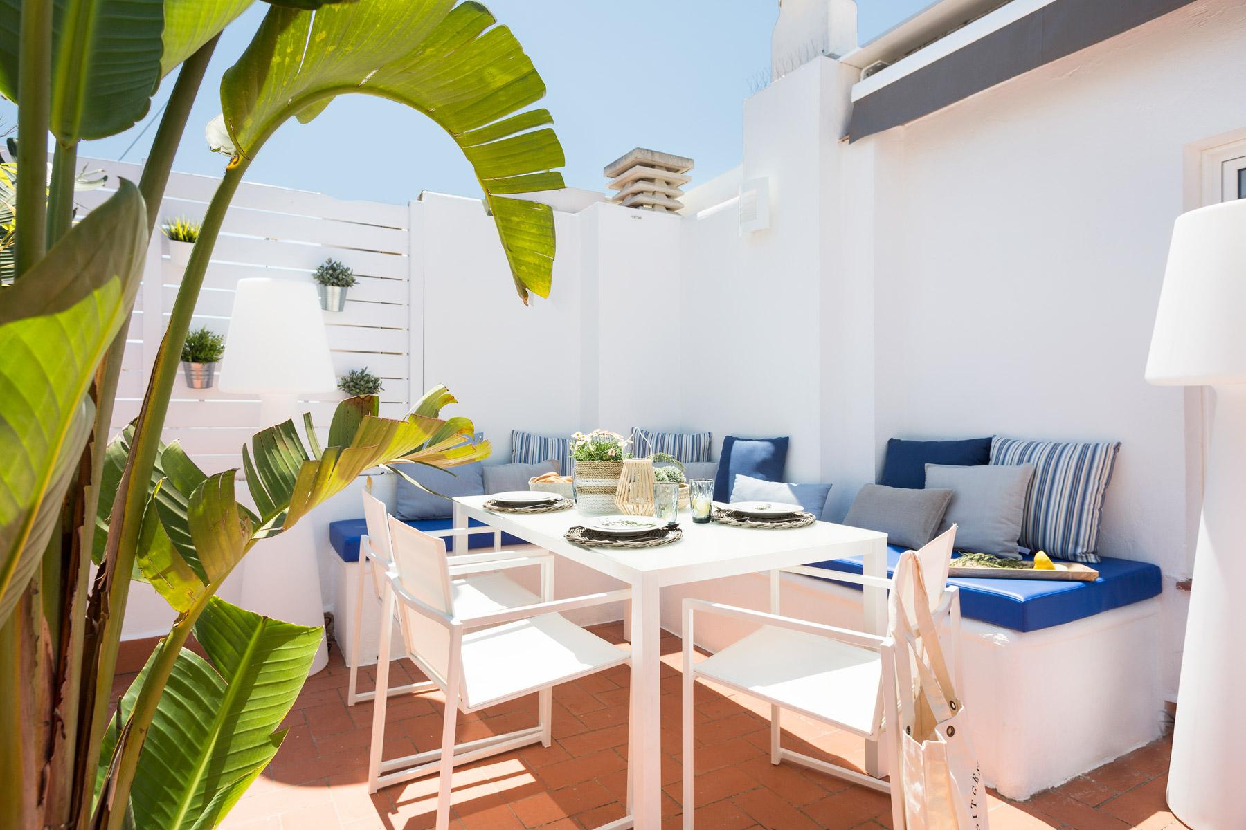 Apartament Sitges Blue & White Penthouse 1